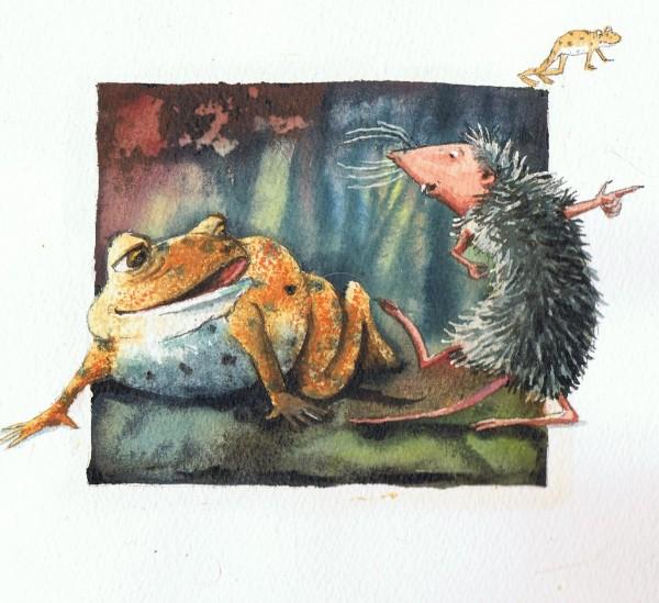 """Illustration fra """"Store Tudse og Mutter Spidsmus""""."""