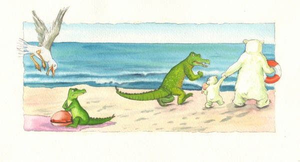 """""""Og du bliver her, til du har spist din mad,"""" siger Store Krokodille."""