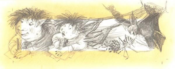 "Blyanten og den lille bange Trold. Fra ""Blyantens historier""."