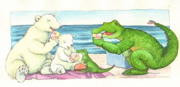 """""""Vil du smage lidt af min?"""" spørger Lille Isbjørn"""