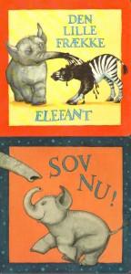 Pap-klapbog om Lille Elefant bind 3 og 4.
