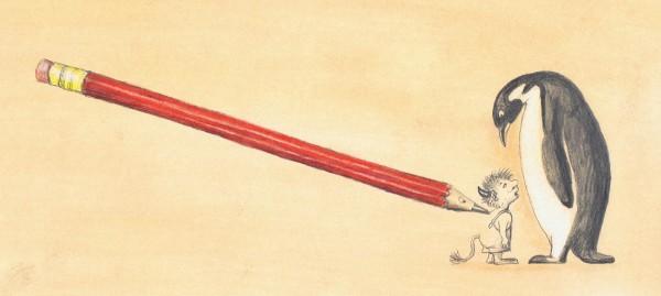 """illustration til forsiden af """"Blyantens historier""""."""