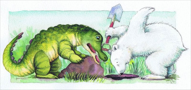 Men hov! Hvor blev Lille Krokodille af?