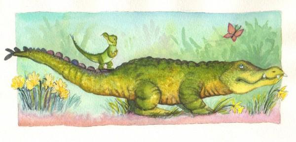 """Fra """"Lille Krokodille og det store hul""""."""