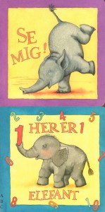 pap-klapbog med Lille Elefant bind 2 og 3